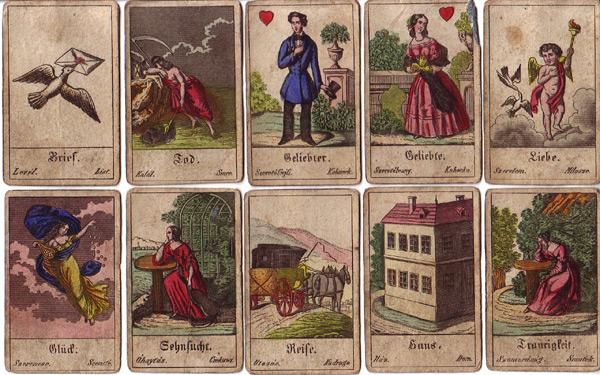 alte Aufschlagkarten