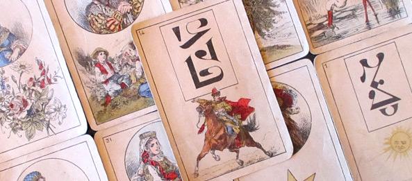 Lenormandkarte – Der Reiter 1: Deutung, Bedeutung, Kombinationen
