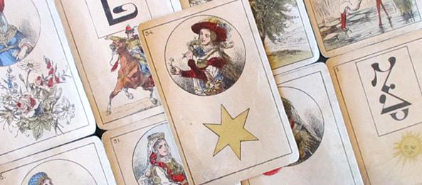 Lenormandkarte – Die Sterne 16: Deutung, Bedeutung, Kombinationen