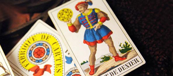 Tarotkarte – Bube der Münzen