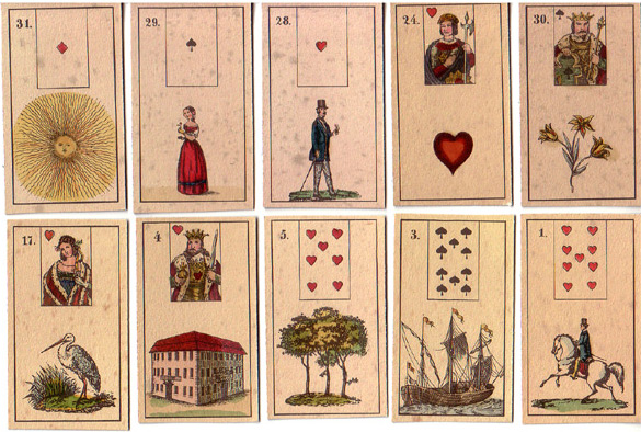 Lenormandkarten Verlag für die Frau