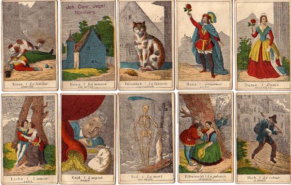 Wahrsagekarten Joh. Konrad Jegel