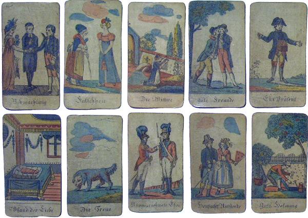Altes Wahrsage Kartenspiel