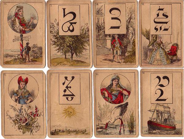 Lenormandkarten Hersteller unbekannt