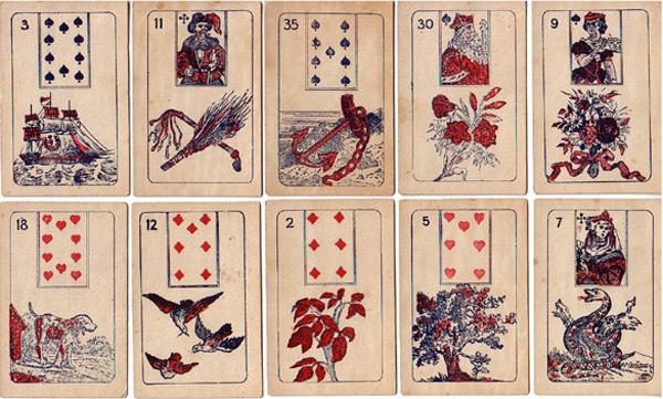 Lenormandkarten aus Belgien