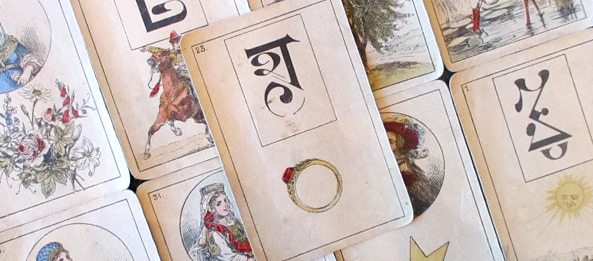 Lenormandkarte – Der Ring 25: Deutung, Bedeutung, Kombinationen