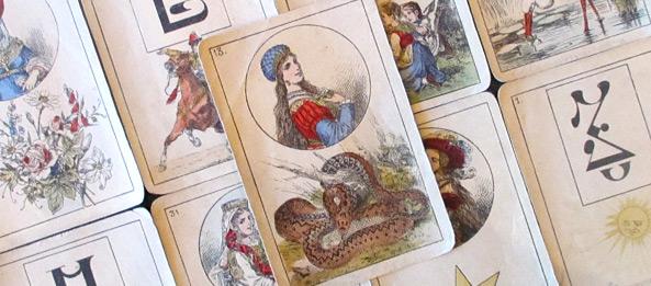 Lenormandkarte – Die Schlange 7: Deutung, Bedeutung, Kombinationen