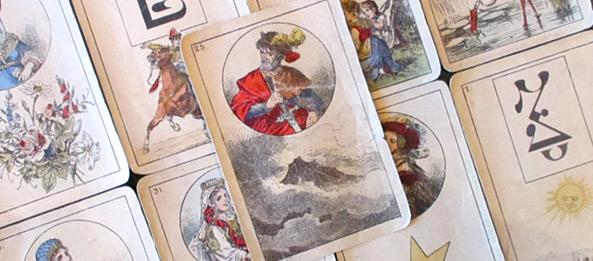 Lenormandkarte – Die Wolken 6: Deutung, Bedeutung, Kombinationen