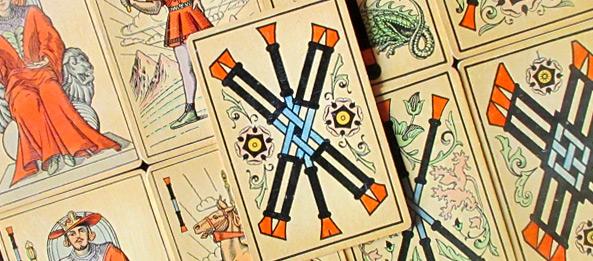 Tarot Tageskarte – 5 der Stäbe