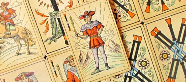 Tarot Tageskarte – Page der Stäbe