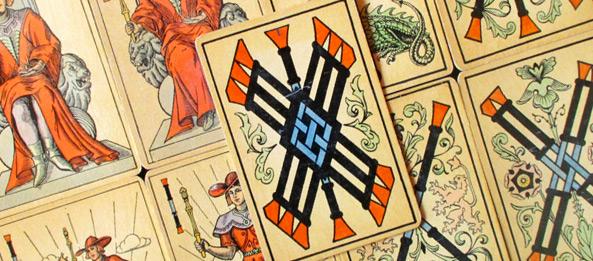 Tarot Tageskarte – 7 der Stäbe