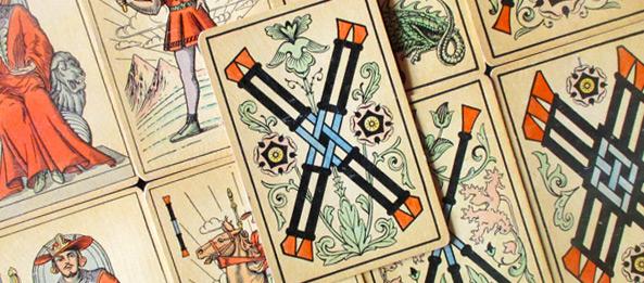 Tarot Tageskarte – 4 der Stäbe