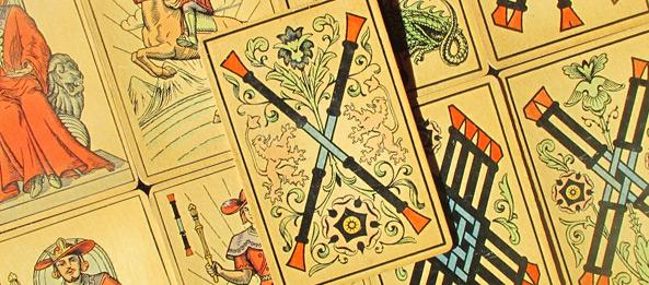 Tarot Tageskarte – 2 der Stäbe