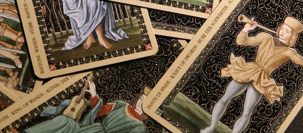 Tarotkarte – Bube der Schwerter
