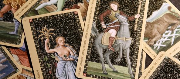 Tarotkarte – Ritter der Stäbe