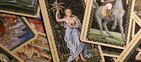 Tarotkarte – 6 der Stäbe